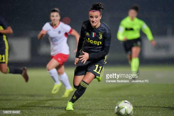Juventus player Barbara Bonansea during the match between Juventus Women and ASD Orobica on October 31 2018 in Vinovo Italy
