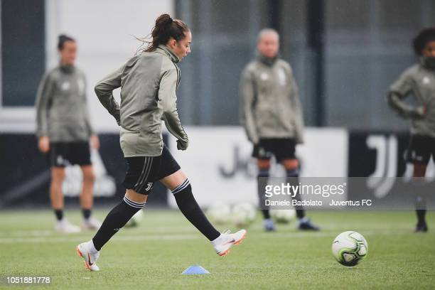Juventus player Benedetta Glionna during a Juventus Women training session at Juventus Center Vinovo on October 11 2018 in Vinovo Italy