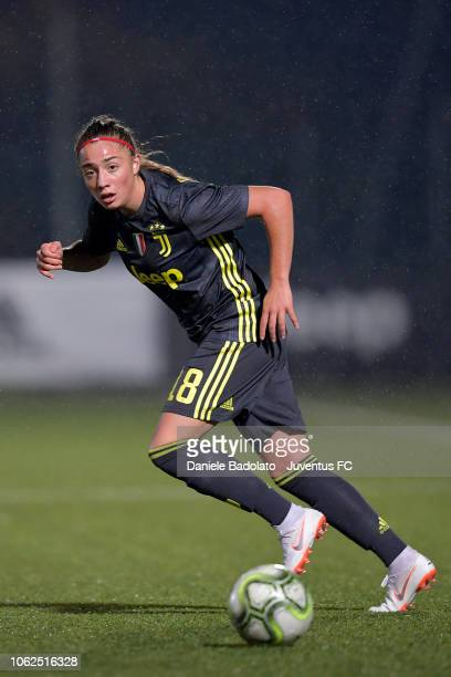 Juventus player Benedetta Glionna during the match between Juventus Women and ASD Orobica on October 31 2018 in Vinovo Italy