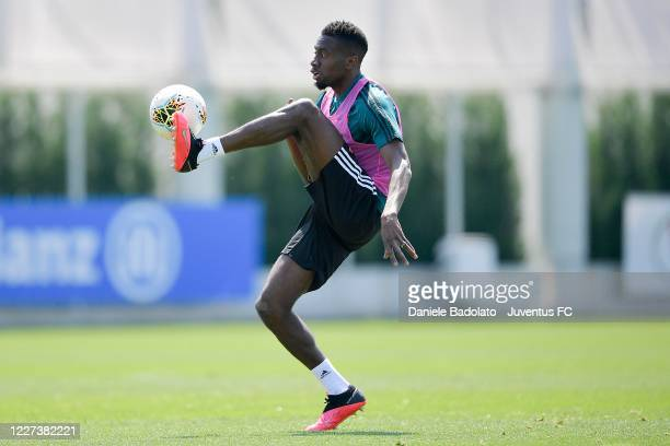 Juventus player Blaise Matuidi controls the ball during a training session at JTC on May 27 2020 in Turin Italy