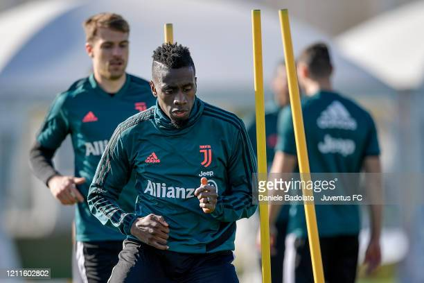 Juventus player Blaise Matuidi during a training session at JTC on March 10, 2020 in Turin, Italy.