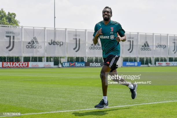 Juventus player Blaise Matuidi during a training session at JTC on May 21 2020 in Turin Italy