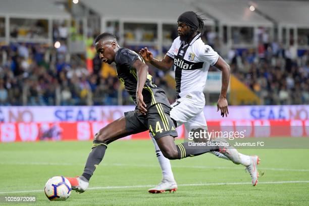 Juventus player Blaise Matuidi during the serie A match between Parma Calcio and Juventus at Stadio Ennio Tardini on September 1 2018 in Parma Italy