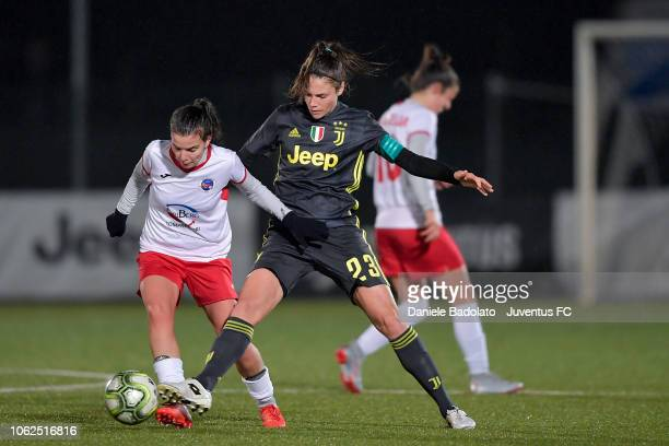 Juventus player Cecilia Salvai during the match between Juventus Women and ASD Orobica on October 31 2018 in Vinovo Italy