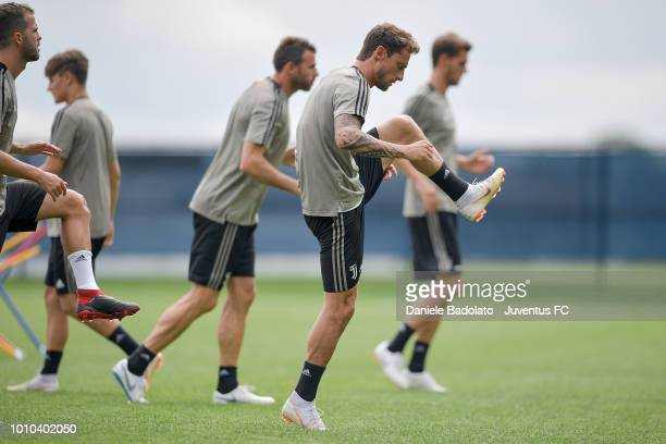 Juventus player Claudio Marchisio during a Juventus training session at Pingry School on August 3 2018 in Basking Ridge New Jersey