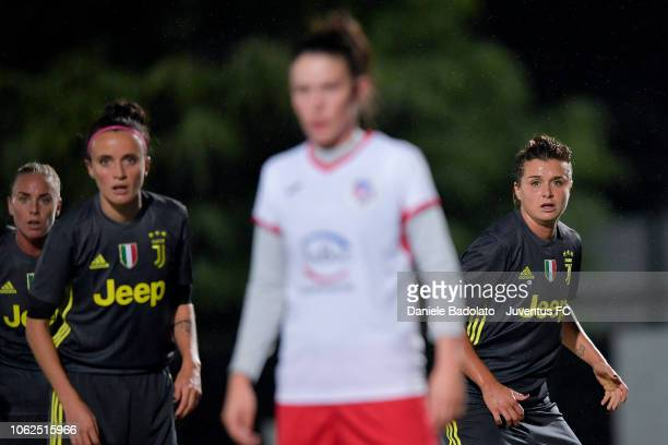 Juventus player Cristiana Girelli during the match between Juventus Women and ASD Orobica on October 31 2018 in Vinovo Italy