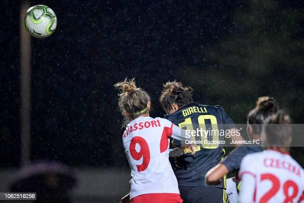 Juventus player Cristiana Girelli scores 20 goal during the match between Juventus Women and ASD Orobica on October 31 2018 in Vinovo Italy