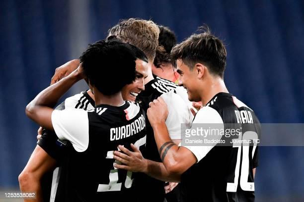 Juventus player Cristiano Ronaldo celebrates 02 goal during the Serie A match between Genoa CFC and Juventus at Stadio Luigi Ferraris on June 30 2020...