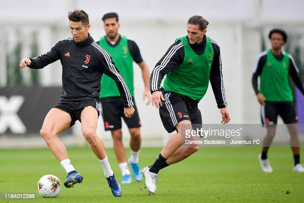 Juventus player Cristiano Ronaldo during a training session at JTC on October 28 2019 in Turin Italy