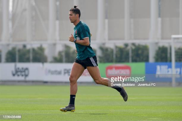 Juventus player Cristiano Ronaldo during a training session at JTC on May 22 2020 in Turin Italy