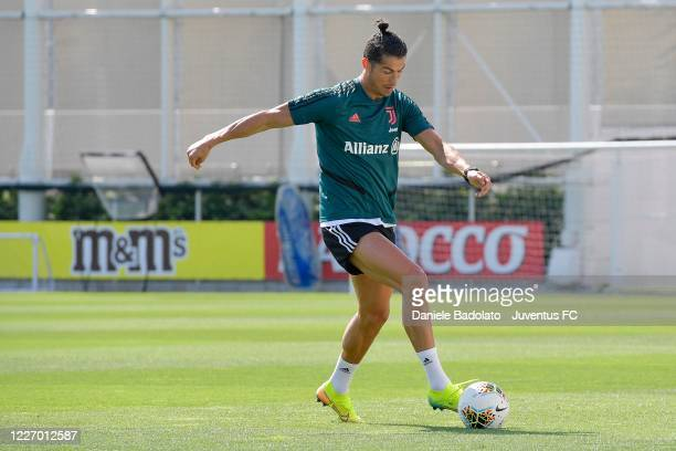 Juventus player Cristiano Ronaldo during a training session at JTC on May 25 2020 in Turin Italy