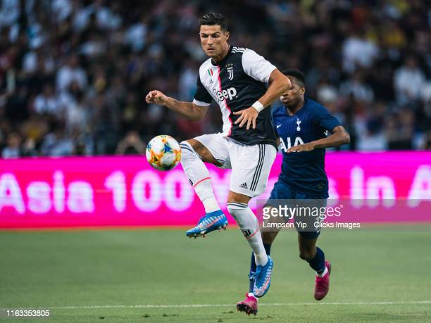Juventus player Cristiano Ronaldo during the International Champions Cup match between Juventus and Tottenham Hotspur at the Singapore National...