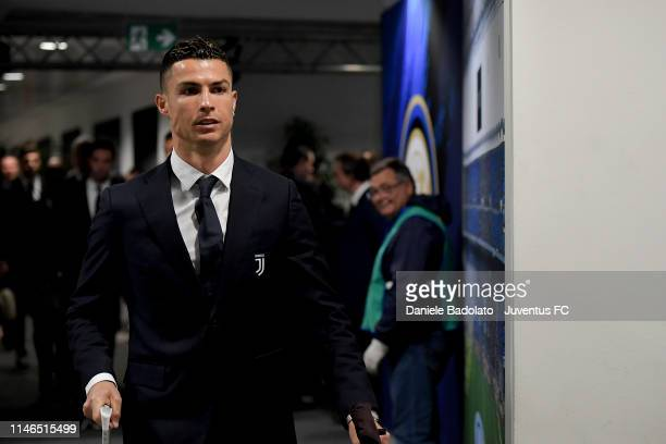Juventus player Cristiano Ronaldo during the Serie A match between FC Internazionale and Juventus at Stadio Giuseppe Meazza on April 27 2019 in Milan...