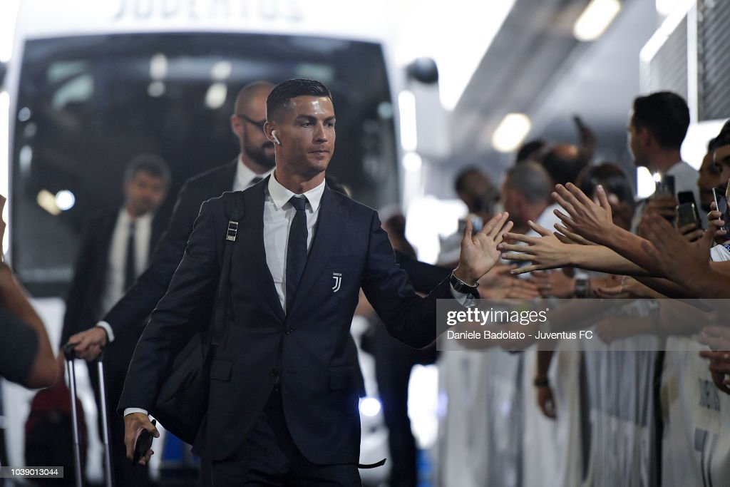 Juventus player Cristiano Ronaldo during the serie A match between Juventus and US Sassuolo at Allianz Stadium on September 16, 2018 in Turin, Italy.