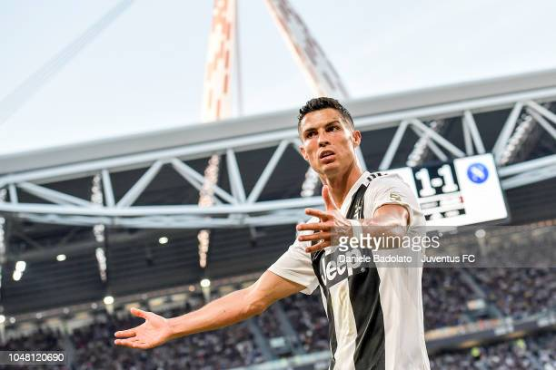Juventus player Cristiano Ronaldo during the Serie A match between Juventus and SSC Napoli at Allianz Stadium on September 29 2018 in Turin Italy