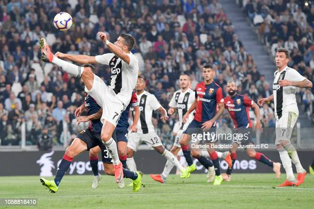 Juventus player Cristiano Ronaldo during the Serie A match between Juventus and Genoa CFC at Allianz Stadium on October 20 2018 in Turin Italy
