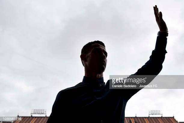 Juventus player Juan Cuadrado during the walk around on September 18 2018 in Valencia Spain