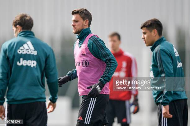 Juventus player Daniele Rugani during a training session at JTC on March 06 2020 in Turin Italy