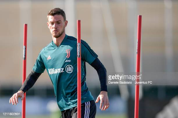 Juventus player Daniele Rugani during a training session at JTC on March 10, 2020 in Turin, Italy.