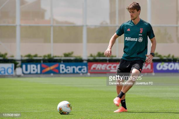 Juventus player Daniele Rugani during a training session at JTC on May 15 2020 in Turin Italy