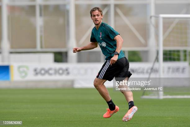 Juventus player Daniele Rugani during a training session at JTC on May 19 2020 in Turin Italy