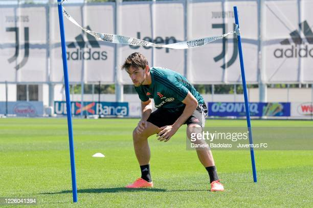 Juventus player Daniele Rugani during a training session at JTC on May 20 2020 in Turin Italy