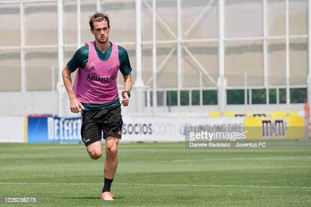 Juventus player Daniele Rugani during a training session at JTC on May 21 2020 in Turin Italy