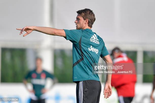 Juventus player Daniele Rugani during a training session at JTC on May 25 2020 in Turin Italy