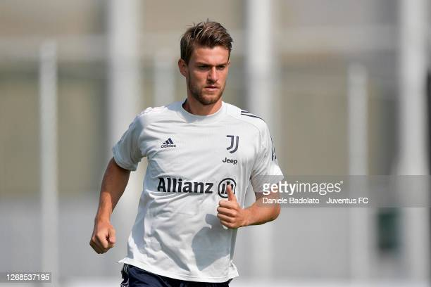 Juventus player Daniele Rugani during a training session at JTC on August 25, 2020 in Turin, Italy.
