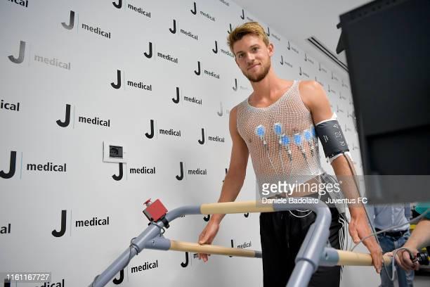 Juventus player Daniele Rugani during the Juventus First Team Medical Tests at Jmedical on July 10 2019 in Turin Italy