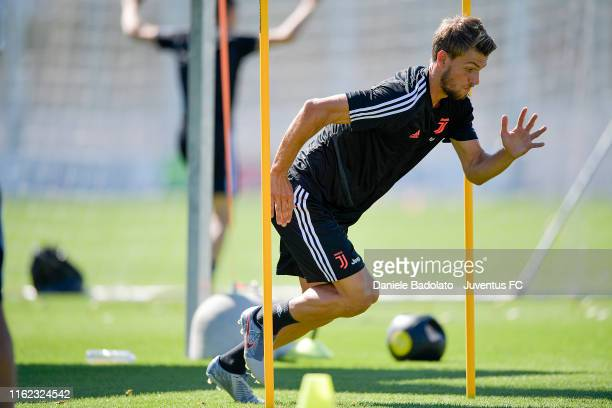 Juventus player Daniele Rugani during the morning training session at JTC on July 16 2019 in Turin Italy