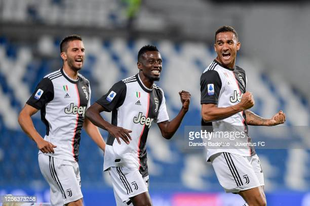 Juventus player Danilo celebrates 0-1 goal during the Serie A match between US Sassuolo and Juventus at Mapei Stadium - Città del Tricolore on July...