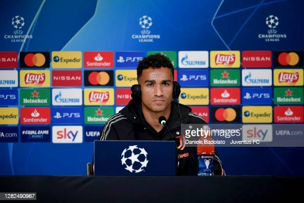 Juventus player Danilo during the UEFA Champions League press conference at Allianz Stadium on October 27 2020 in Turin Italy