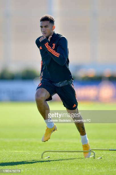Juventus player Danilo during the UEFA Champions League training session at JTC on October 27 2020 in Turin Italy