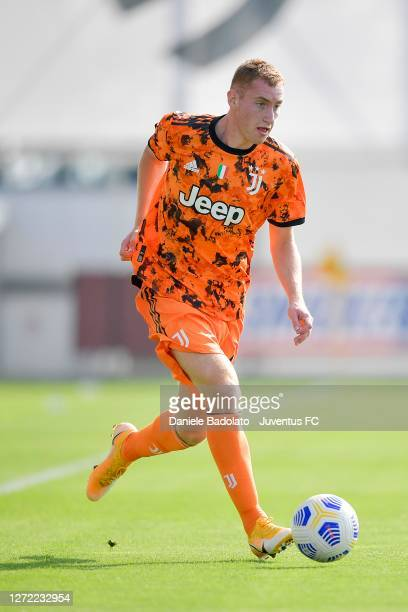 Juventus player Dejan Kulusevski during the pre-season friendly match with Novara at JTC on September 13, 2020 in Turin, Italy.