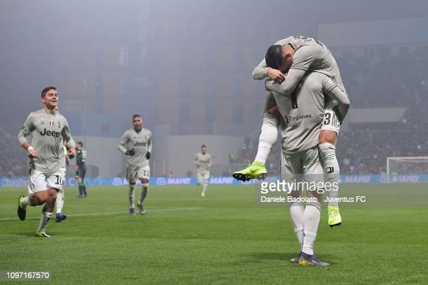 Juventus player Emre Can celebrates 03 goal during the Serie A match between US Sassuolo and Juventus at Mapei Stadium Citta' del Tricolore on...