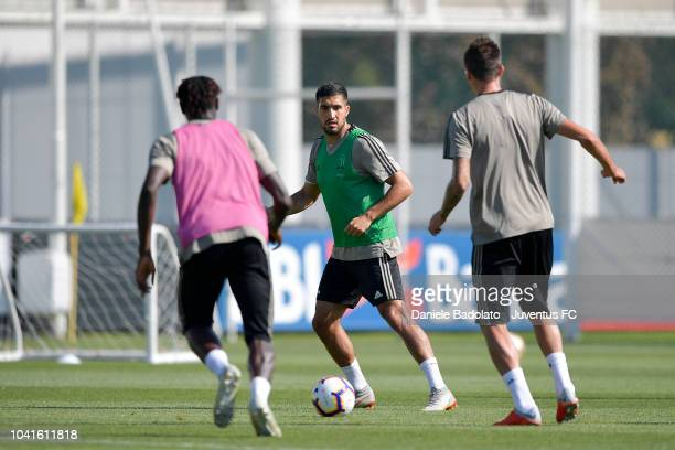 Juventus player Emre Can during a training session at JTC on September 27 2018 in Turin Italy