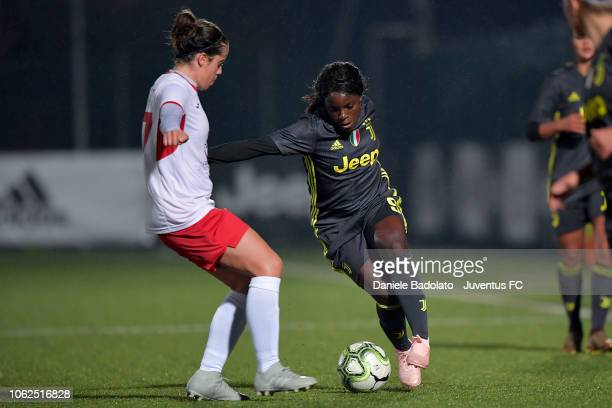 Juventus player Eniola Aluko during the match between Juventus Women and ASD Orobica on October 31 2018 in Vinovo Italy