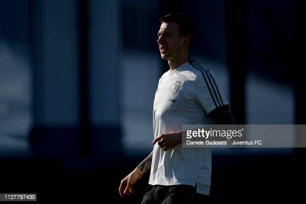 Juventus player Federico Bernardeschi during a training session at JTC on February 27 2019 in Turin Italy
