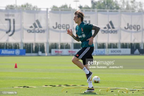 Juventus player Federico Bernardeschi during a training session at JTC on May 28 2020 in Turin Italy