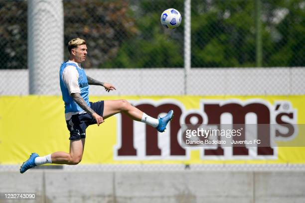 Juventus player Federico Bernardeschi during a training session at JTC on May 07, 2021 in Turin, Italy.