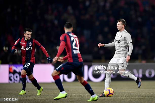 Juventus player Federico Bernardeschi during the Coppa Italia match between Bologna FC and Juventus at Stadio Renato Dall'Ara on January 12 2019 in...