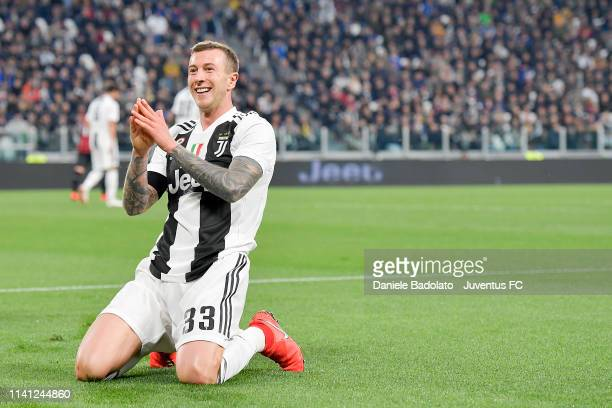 Juventus player Federico Bernardeschi during the Serie A match between Juventus and AC Milan on April 6 2019 in Turin Italy