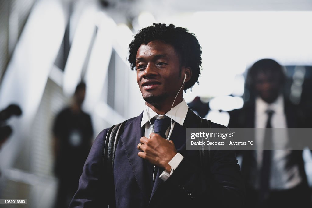 Juventus player Juan Cuadrado during the serie A match between Juventus and US Sassuolo at Allianz Stadium on September 16, 2018 in Turin, Italy.