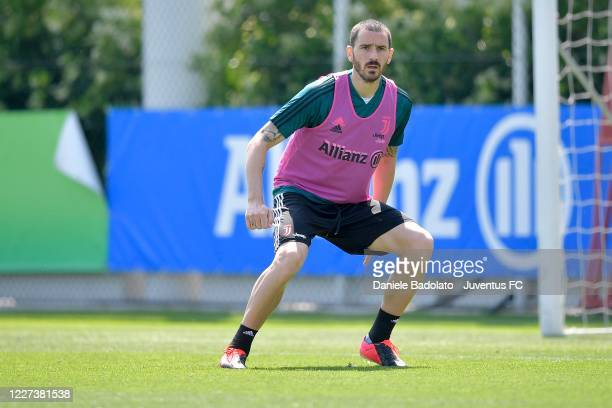 Juventus player Leonardo Bonucci during a training session at JTC on May 27 2020 in Turin Italy