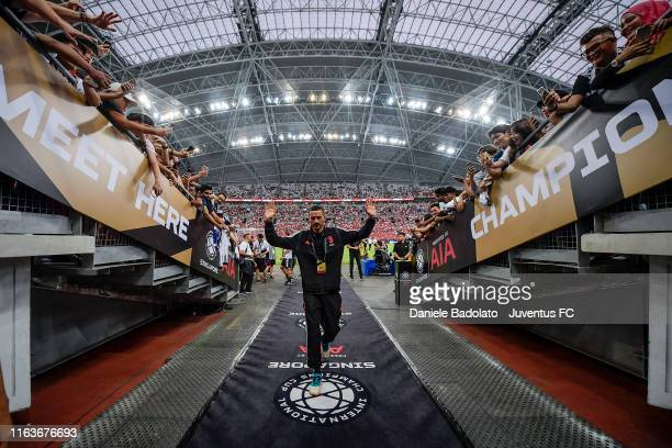 Juventus player Leonardo Bonucci during the International Champions Cup match between Juventus and Tottenham Hotspur at the Singapore National...