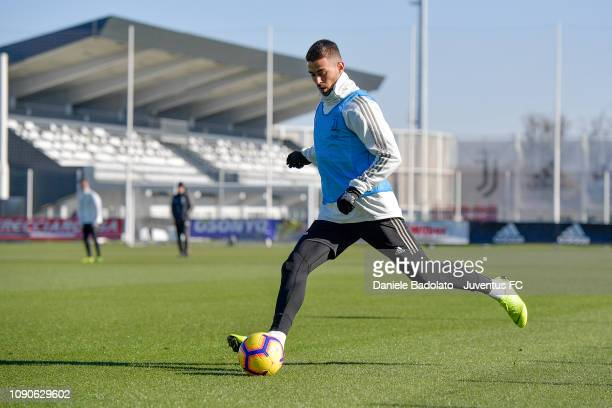 Juventus player Leonardo Spinazzola during a training session at JTC on January 28 2019 in Turin Italy
