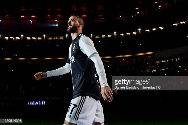 Juventus player Leonardo Spinazzola during the Serie A match between Juventus and Atalanta BC on May 19 2019 in Turin Italy