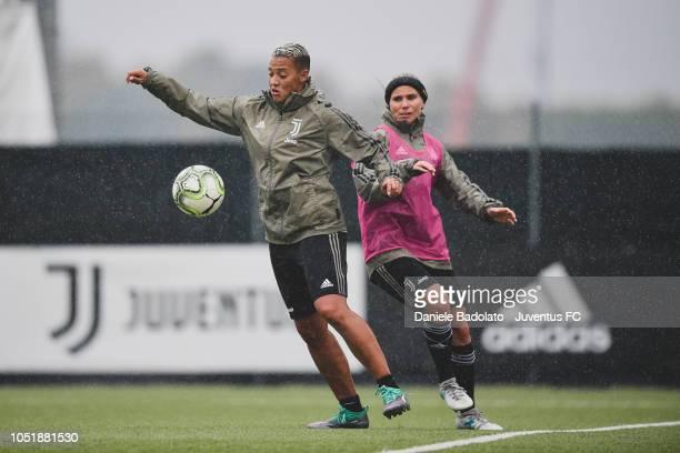 Juventus player Lianne Sanderson during a Juventus Women training session at Juventus Center Vinovo on October 11 2018 in Vinovo Italy