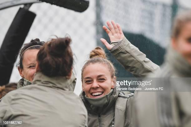 Juventus player Lisa Boattin during a Juventus Women training session at Juventus Center Vinovo on October 11 2018 in Vinovo Italy